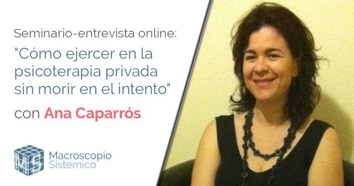 webinar Ana Caparrós