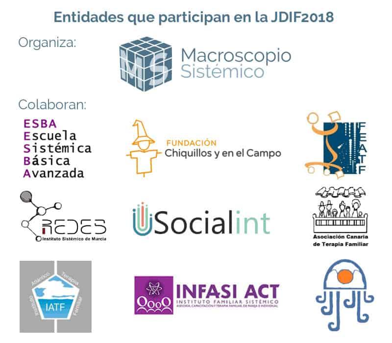 Entidades que participan en la Jornada Online por el Día Internacional de la Familia 2018