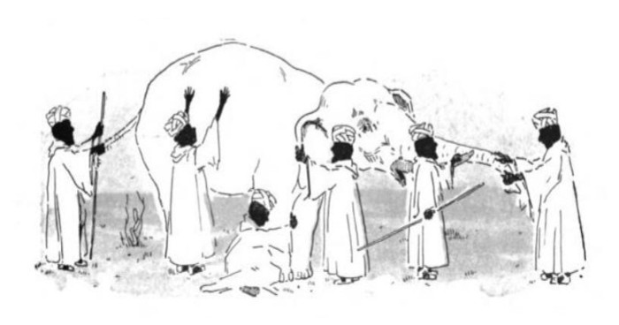 El elefante y los sabios ciegos